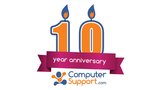 Computer Support 10 year anniversary