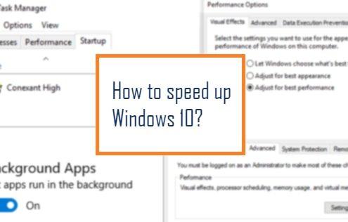 Speed up Windows10