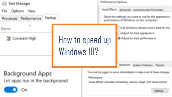 Speed up Windows10