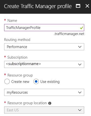 Traffic Manager Profile