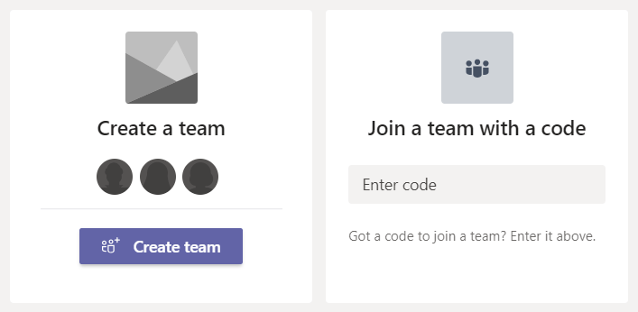 Create Join Team